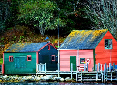 Small fishing village, Blandford, Nova Scotia, Canada